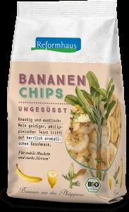 Bananenchips ungesüsst : Reformhaus Produkt Packshot