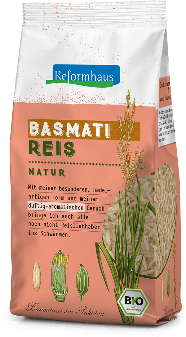 Basmati Reis Natur : Reformhaus Produkt Packshot