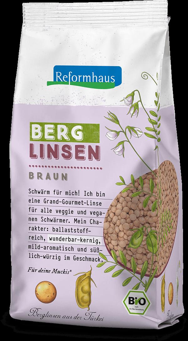Braune Berglinsen : Reformhaus Produkt Packshot