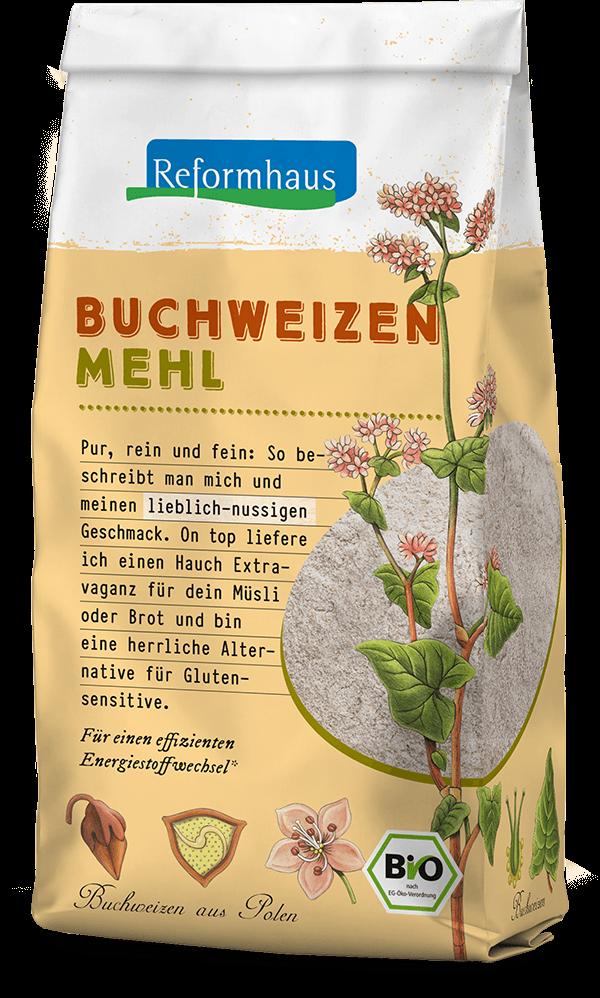 Buchweizen-Mehl : Reformhaus Produkt Packshot
