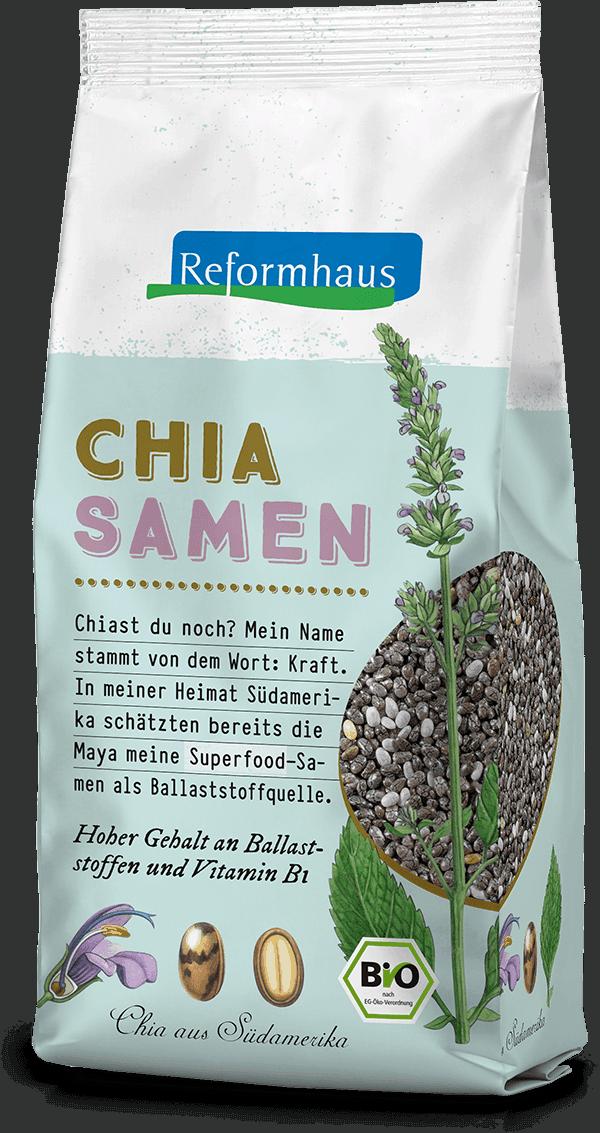 Chia Samen : Reformhaus Produkt Packshot