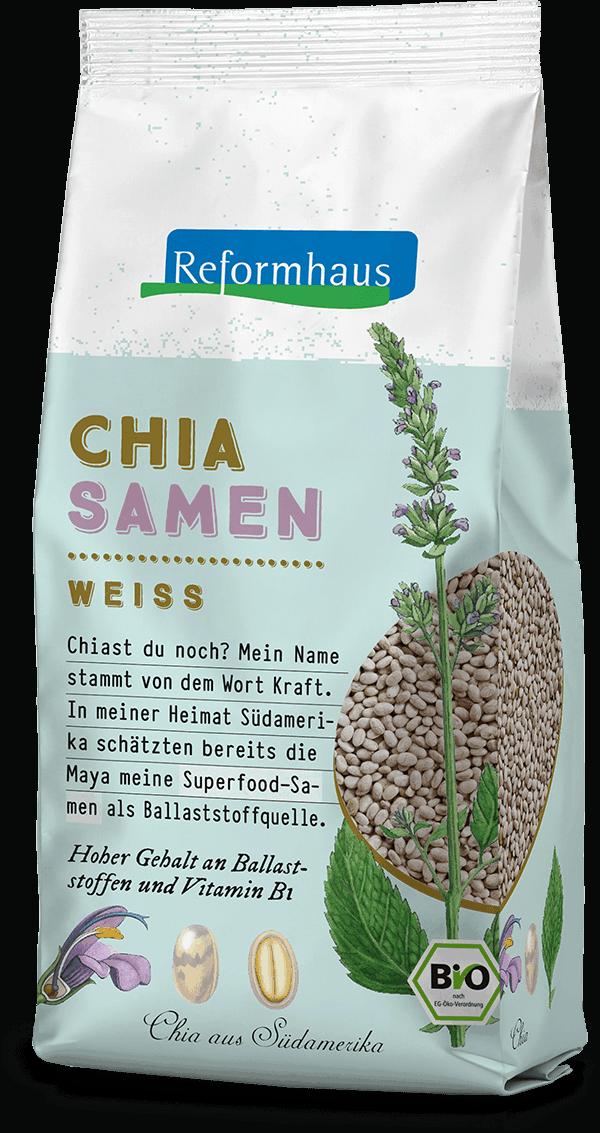 Chia Samen Weiss : Reformhaus Produkt Packshot