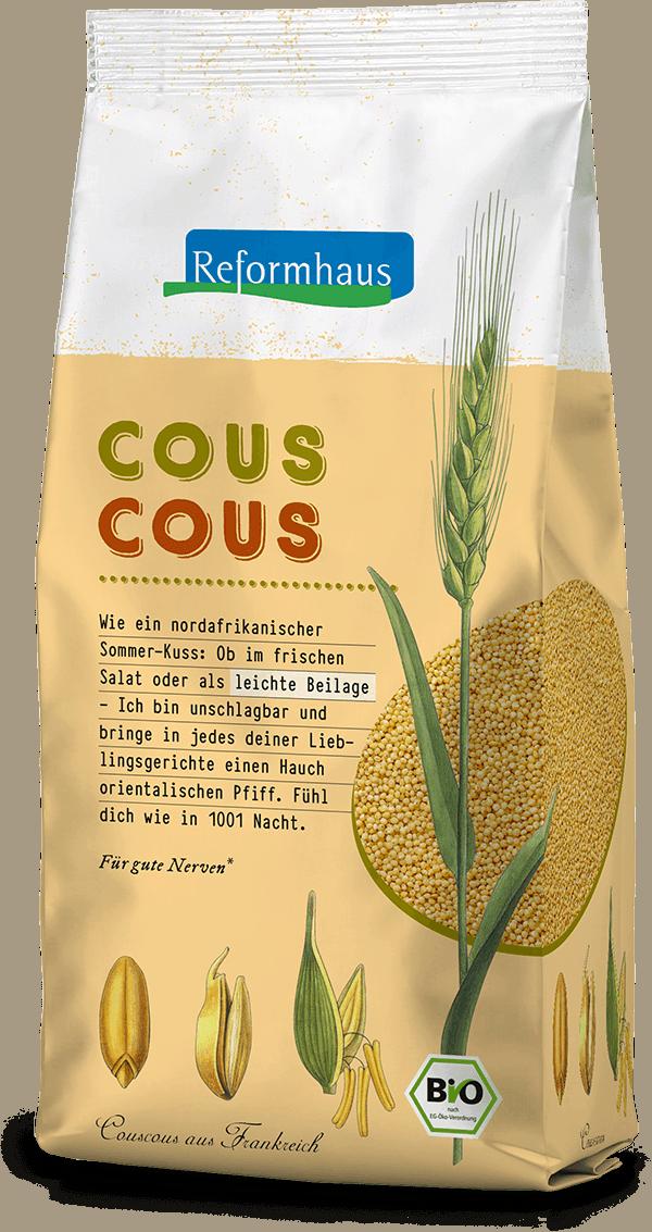Couscous : Reformhaus Produkt Packshot