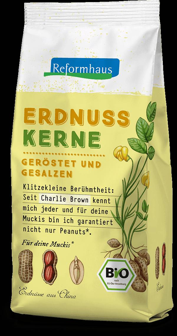 Erdnusskerne geröstet und gesalzen : Reformhaus Produkt Packshot
