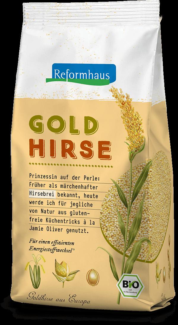 Goldhirse : Reformhaus Produkt Packshot