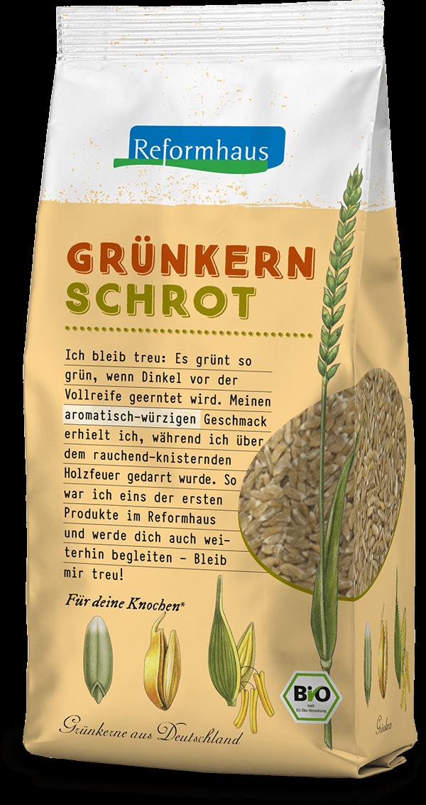 Grünkern-Schrot : Reformhaus Produkt Packshot