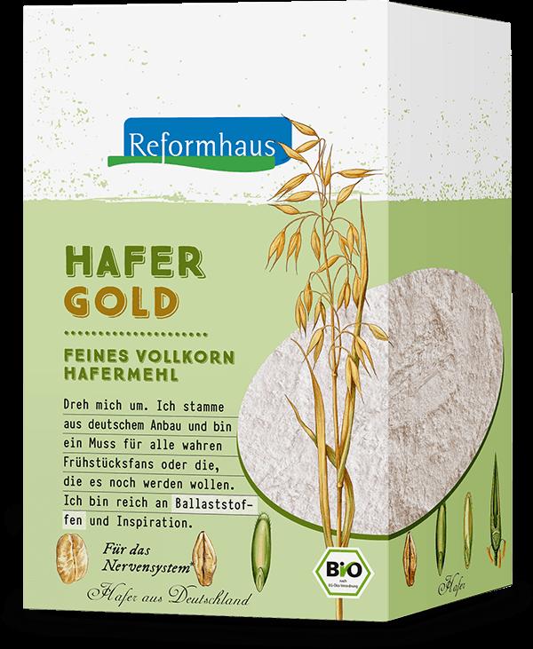 Hafergold : Reformhaus Produkt Packshot