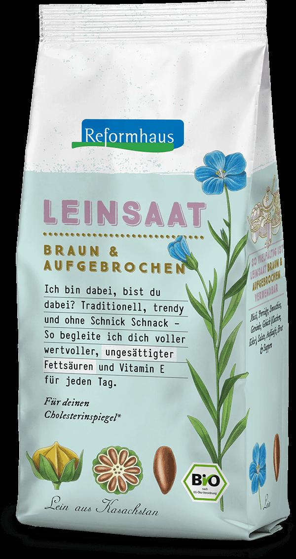 Leinsaat Braun : Reformhaus Produkt Packshot
