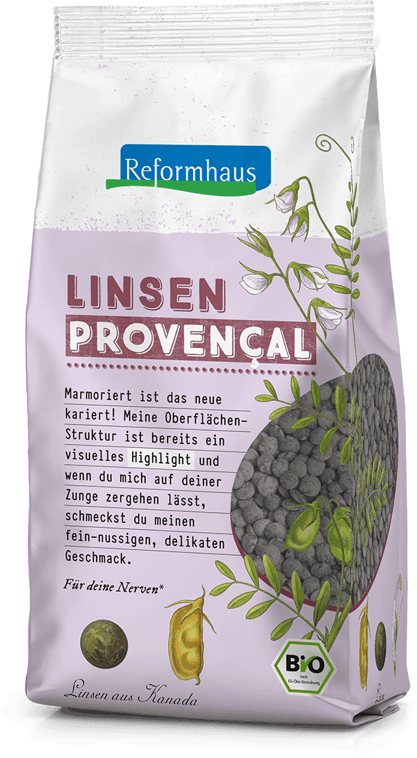 Linsen Provencal - fein : Reformhaus Produkt Packshot