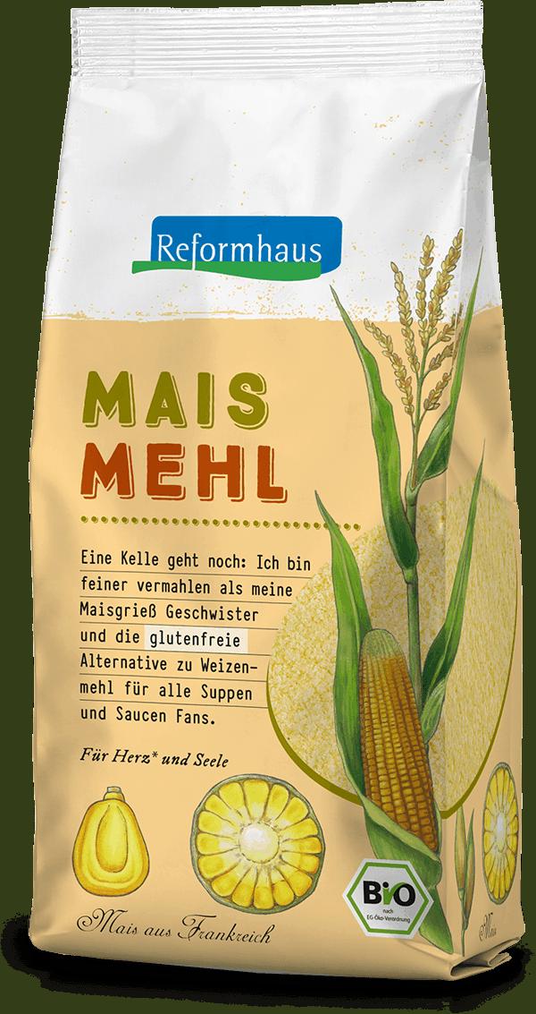 Mais Mehl : Reformhaus Produkt Packshot