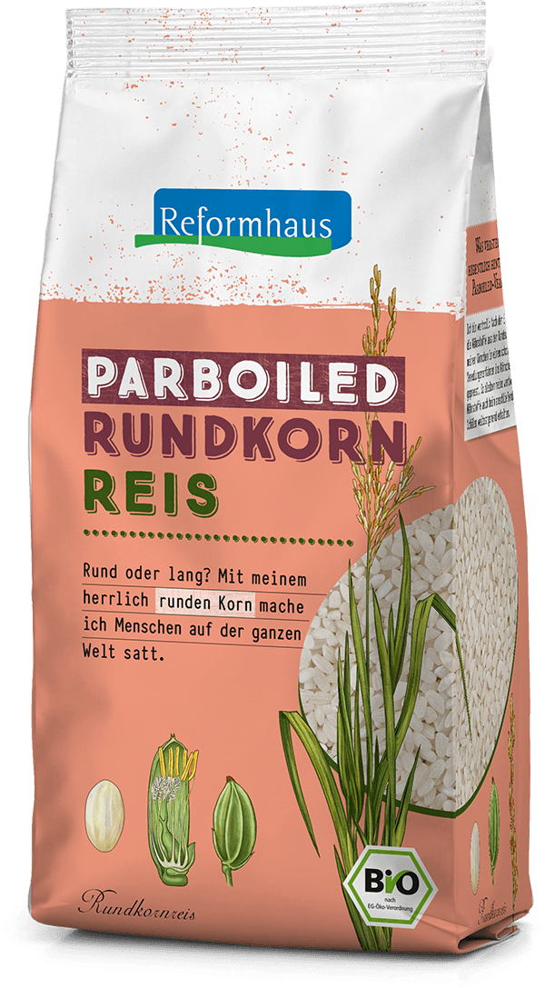 Parboiled Rundkornreis : Reformhaus Produkt Packshot
