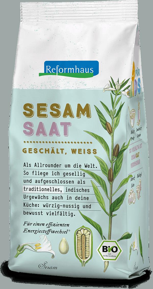 Sesamsaat geschält weiß : Reformhaus Produkt Packshot
