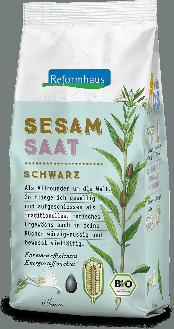 Sesamsaat Schwarz : Reformhaus Produkt Packshot