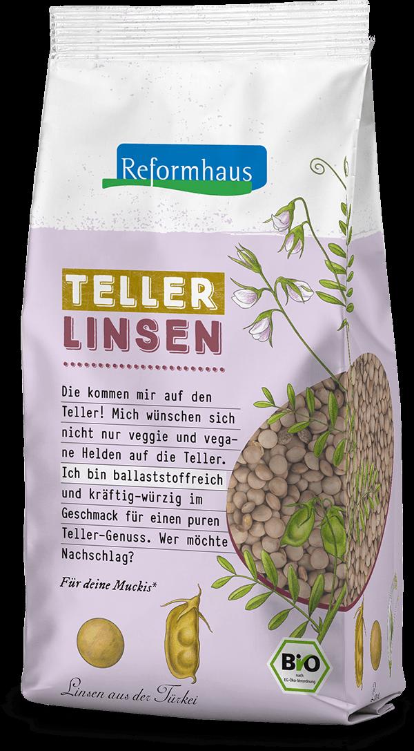 Tellerlinsen : Reformhaus Produkt Packshot