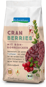 Bio Cranberries : Reformhaus Produkt Packshot